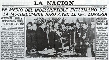 El diario La Nación festejaba el golpe contra el gobierno democrático de Juan Domingo Perón. 24 de septiembre de 1955.